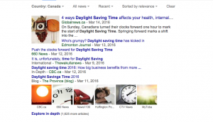 Daylight Saving Time search results