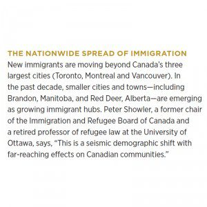 The Nationwide Spread of Immigration slide