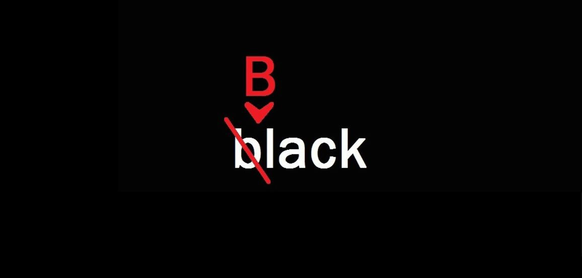 """Graphic of """"black"""" changed to """"Black"""""""