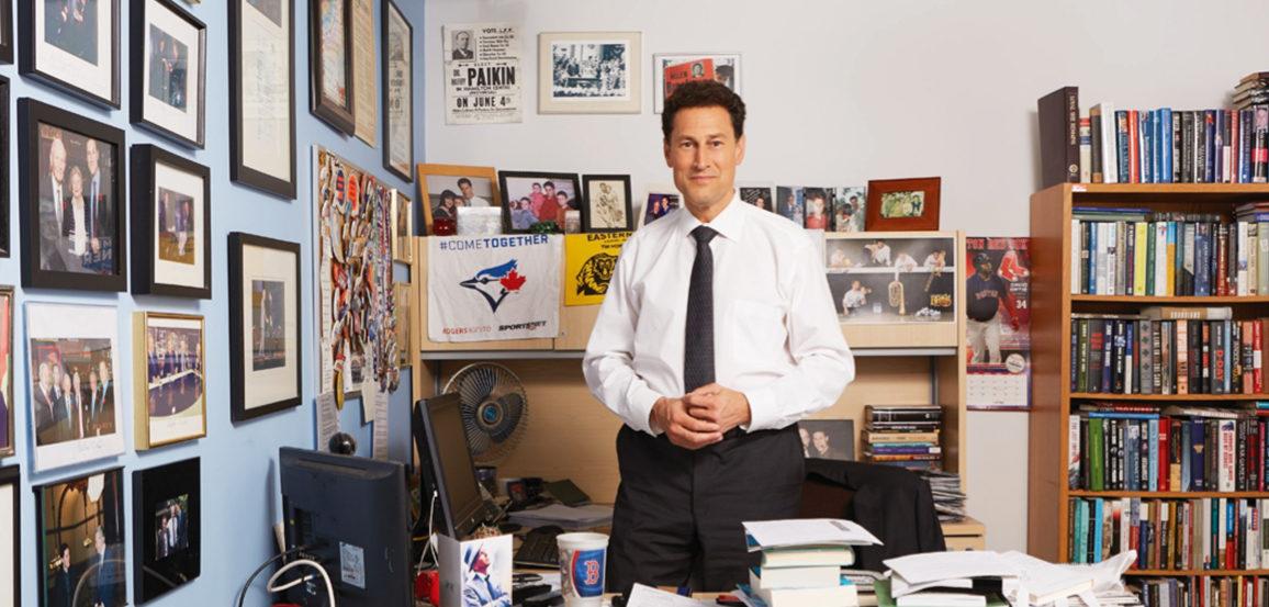 Steve Paikin in office