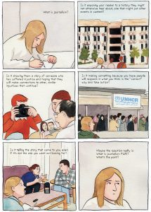 Comic illustrations on what journalism really is