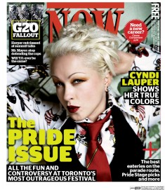 Cover of Now depicting Cyndi Lauper.