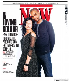 Cover for Now depicting an interracial heterosexual couple.
