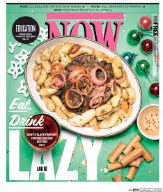 Cover of Now depicting a plate of food.