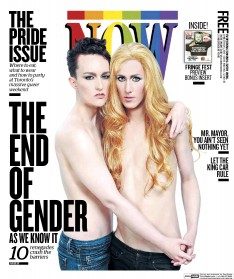 Cover for Now depicting two androgynous people for the 2013 Pride edition.