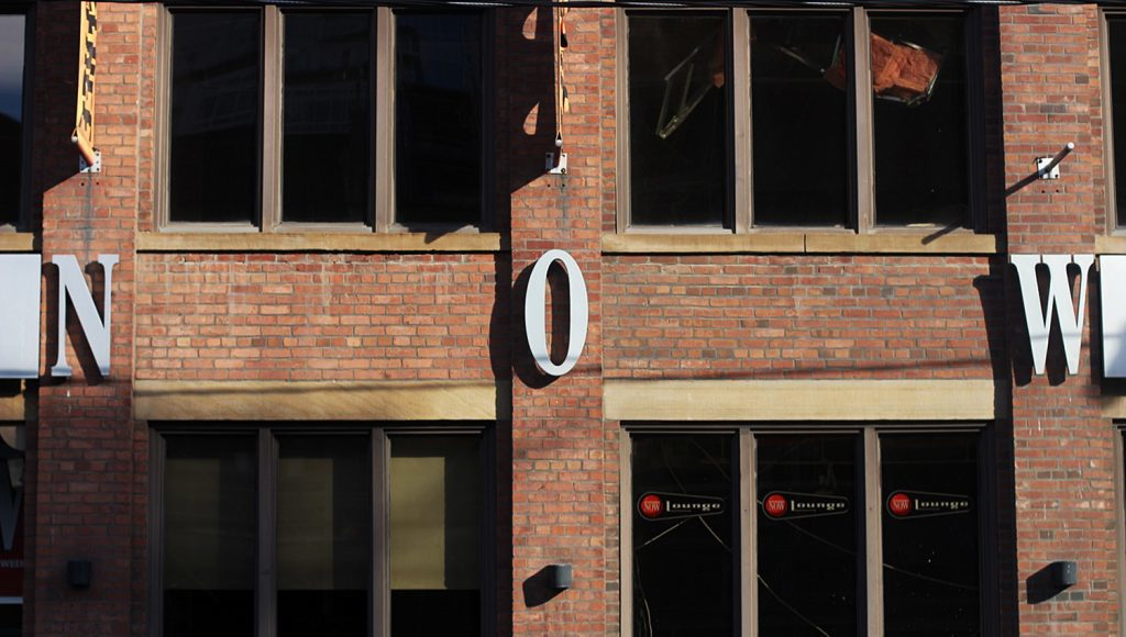 Now's sign at their old 189 Church Strett office. Courtesy: Devin Jones.