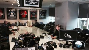A photo of the interior of Full Circl Visuals office taken by their 360 camera