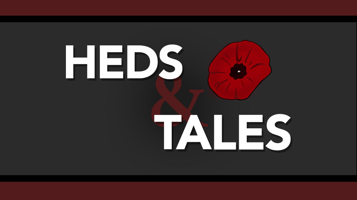 Heds & Tales logo with an image of a poppy