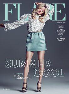 Cover of Flare depicting singer Ellie Goulding.
