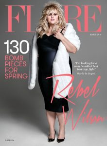 Cover of Flare depicting actress Rebel Wilson.
