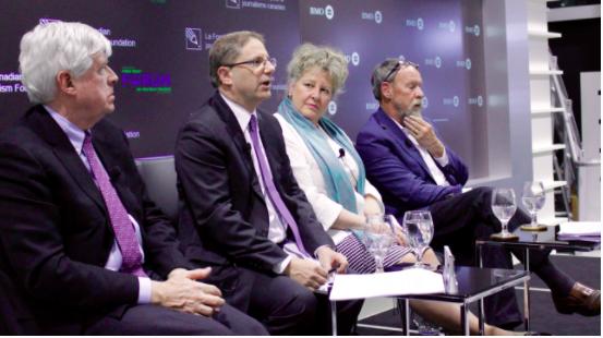 Christopher Waddell, Edward Greenspon, April Lindgren, and Allan Greg