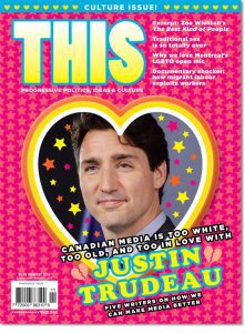 THIS Magazine with Justin Trudeau in a heart