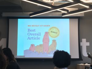 "Powerpoint Presentation: ""We Revolt At Dawn: Best Overall Article Winner"""
