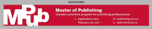 Simon Fraser University Master of Publishing ad