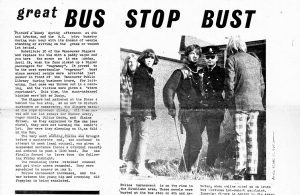 Great Bus Stop Bust newspaper article