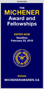 The Michener Award and Fellowships ad