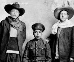 3 Indigenous soldiers