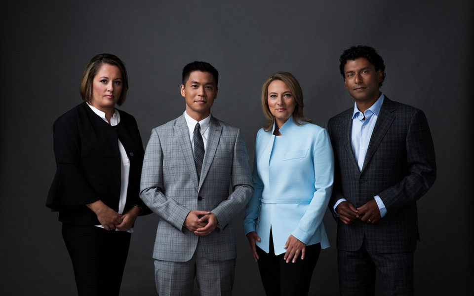 Rosemary Barton, Andrew Chang, Adrienne Arsenault and Ian Hanomansing