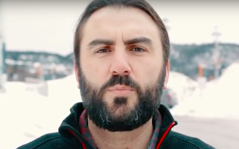 Justin Brake appears in a video on the YouTube channel for the Independent. Brake is facing charges relating to his coverage of an occupation of the Muskrat Falls construction site in Oct. 2016.