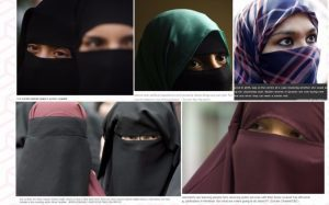 Stock images of women in niqab
