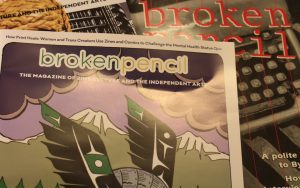 Broken Pencil started in 1995 after Hal Niedzviecki graduated university. It's grown since, doing what it can to stay afloat in today's print industry. (Daina Goldfinger/RRJ)