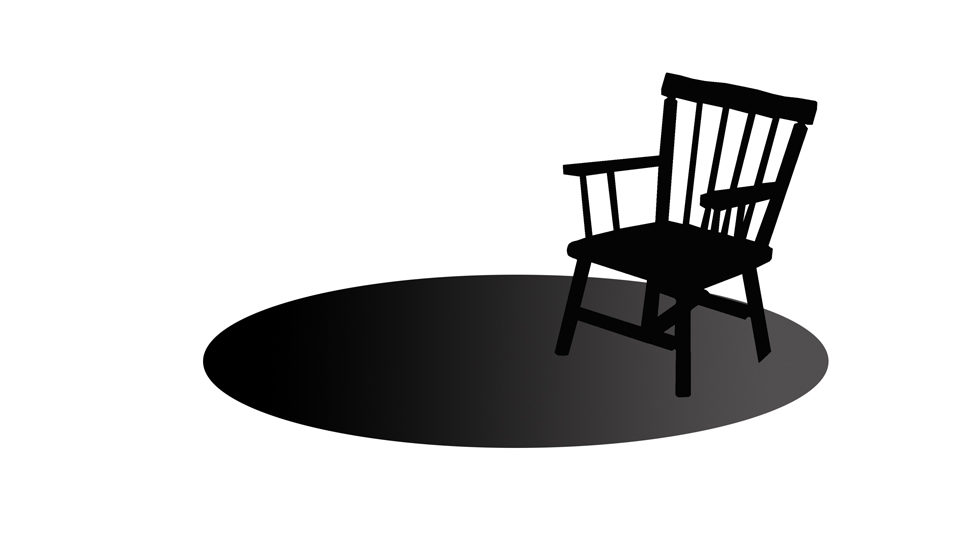 One empty chair on a platform