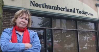 Cecilia Nasmith stands outside Northumberland Today with her arms crossed