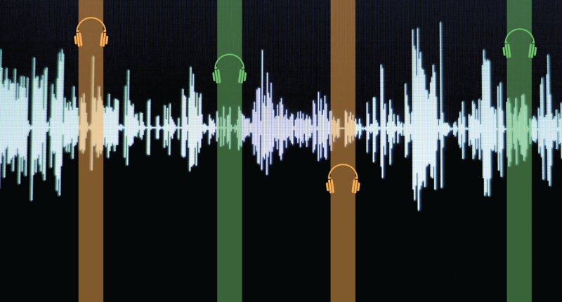 Descriptive image of soundwaves