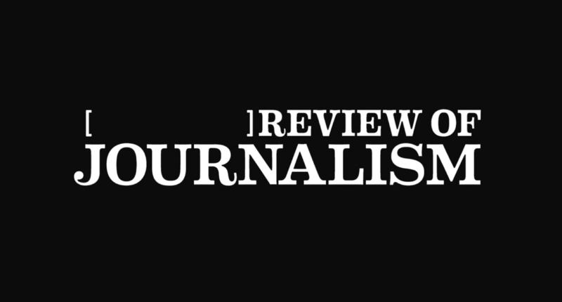 [ ] Review of Journalism