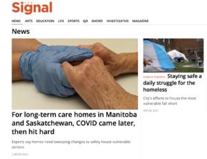 Screen shot of The Signal website